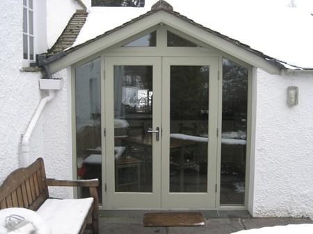 Timber doors and porches in the Lake District