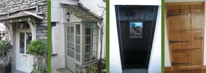 Wooden Doors and Porches across Cumbria and the Lake District